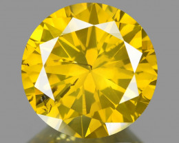 Diamond 1.08 Cts Sparkling Fancy Intense Yellow Natural