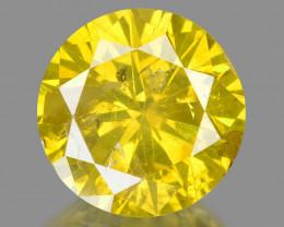 Diamond 1.00 Cts Sparkling Fancy Intense Yellow Natural Diamond