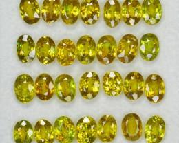 Sphene 18.16 Cts 28pcs 6x4mm Excellent Color Change Natural Parcel