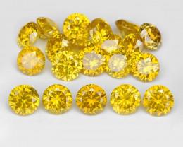 *NoReserve*Diamond 1.05 Cts 20Pcs Sparkling Vivid Yellow Natural