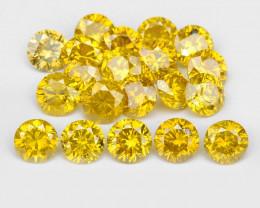 *NoReserve*Diamond 1.10 Cts 20 Pcs Sparkling Vivid Yellow Natural