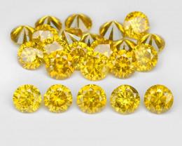 *NoReserve*Diamond 1.46 Cts 23Pcs Sparkling Vivid Yellow Natural