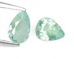 *NoReserve* Paraiba Tourmaline 0.38 Cts 2 Pcs Natural Blue Green Copper Bea