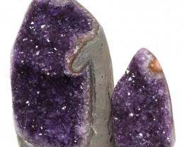 2.40kg Amethyst Polished Crystal Geode Specimen Set 2 Pieces DN143