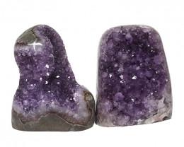 2.23kg Amethyst Polished Crystal Geode Specimen Set 2 Pieces DN146