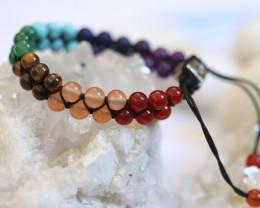 Chakra 7 stone Wellness double weave  Bracelet AHA 624