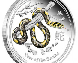 Lunar Series II 2013 Year of the Snake 1/2 oz Silver Coloured9.99% pure sil