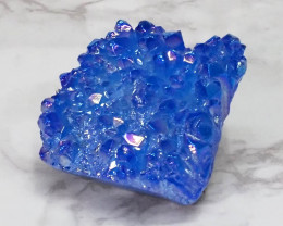 Blue Aura Quartz Crystal Cluster Specimen NR17