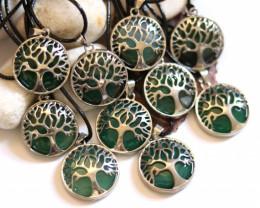 Wholesale 10 pcs Tree Of Life Chalcedony Pendant  AHA 696