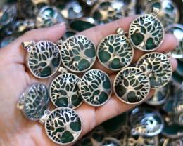 Wholesale 10 pcs Tree Of Life Chalcedony Pendant  AHA 697