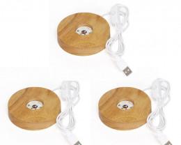 Wholesale 3 LED Light Display USB -Ideal crystal or trophy display  AHA