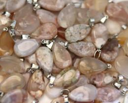 Wholesale 10 pcs Tear Drop Crystal Agate Pendants G/P  AHA 773