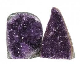2.13kg Amethyst Polished Crystal Geode Specimen Set 2 Pieces DN151
