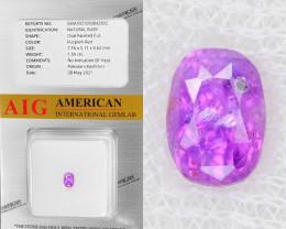 Kashmir Ruby 1.59 Cts AIG Certified Purplish Red Natural Gemstone