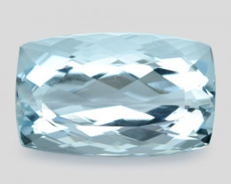 Aquamarine 9.28 Cts Unheated Santa Maria Blue Natural Gemstone