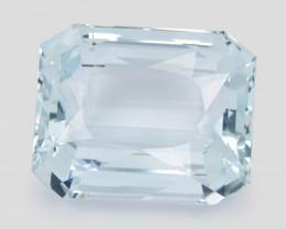 Aquamarine 91.25 Cts IGI Certified Light Green Blue Color Natural Gemstone