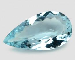 Aquamarine 15.90 Cts Unheated Santa Maria Blue Natural Gemstone