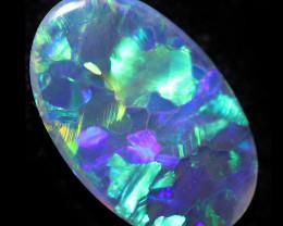 0.35 Cts  Bright  Lightning Ridge Black Opal  CCC 3601