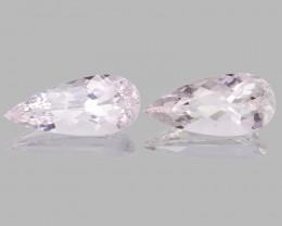 Morganite 14.18 Cts 2 Pcs Natural Pink Color Gemstone