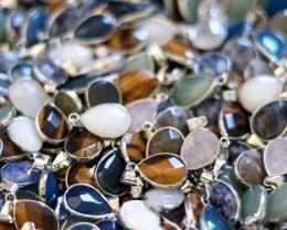 Wholesale 20 pcs popular Faceted Gemstone Pendants G/P  AHA 813