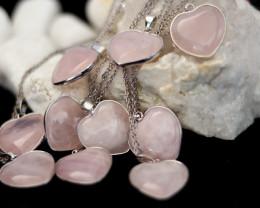 Wholesale 10 pcs Lovers Heart Rose Quartz Pendants Natural Rose QuartzG/P