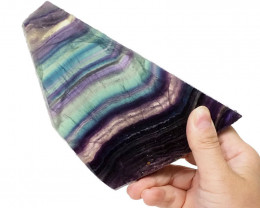 Natural Rainbow Fluorite Polished Slab Plate DS831