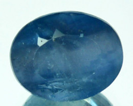 2.27Ct Natural Rare Blue Apatite Oval Faceted Brazil