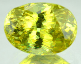 0.88 Cts Natural Sphene Olive Green Oval Cut Russia