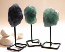 Three Fluorite mineral stands  AHA 1036