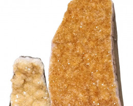 2.01kg Citrine Crystal Geode Specimen Set 2 Pieces DN226