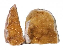 1.81kg Citrine Crystal Geode Specimen Set 2 Pieces DN232