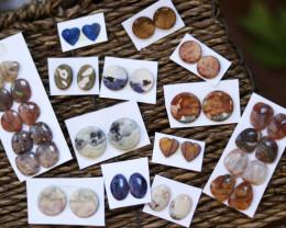 20 pairs Jasper Gemstones CCC 1253