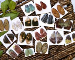 16  Pairs Jasper Gemstones CCC 1259