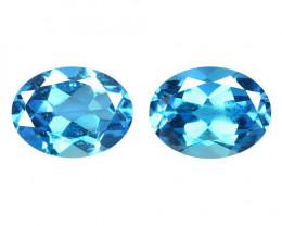 *NoReserve*Topaz 3.17 Cts 2 Pcs Blue Natural Gemstone