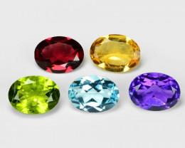Fancy Gemstones 5.55 Cts 5 Pcs Natural Mix Color