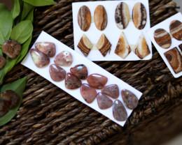 14  Pairs Jasper Gemstones CCC 1260