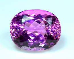Flawless 60.79 Carat Pink Kunzite Gemstone