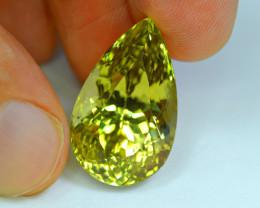 Flawless 28.16Carat Canary Color Kunzite Gemstone