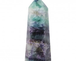 Natural Rainbow Fluorite Terminated Point - Large DS840