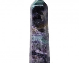 Natural Rainbow Fluorite Terminated Point - Large DS842