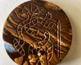 Aboriginal art on boulder Opal ex Bertas Opal collection PPP 497