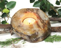 Natural Agate Tealight Holder NR43