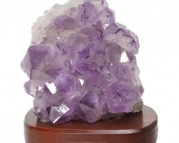 2.33kg Natural Amethyst Crystal Lamp with Timber Base DN254