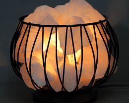 White Himalayan Salt Chunks Amore Lamp (12V - 12W)