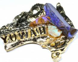 153CTS AUSTRALIAN MAP SOUVENIR RJA-1586      Rarejewelry
