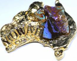 158.25CTS AUSTRALIAN MAP SOUVENIR RJA-1589      Rarejewelry