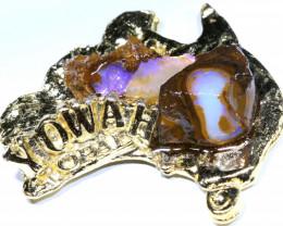 161.95CTS AUSTRALIAN MAP SOUVENIR RJA-1590      Rarejewelry
