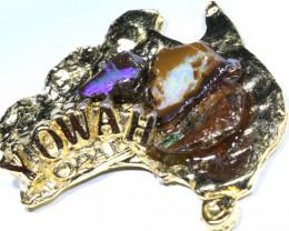 161.45CTS AUSTRALIAN MAP SOUVENIR RJA-1591     Rarejewelry