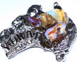 156.25CTS AUSTRALIAN MAP SOUVENIR RJA-1592      Rarejewelry