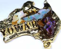 160CTS AUSTRALIAN MAP SOUVENIR RJA-1593      Rarejewelry